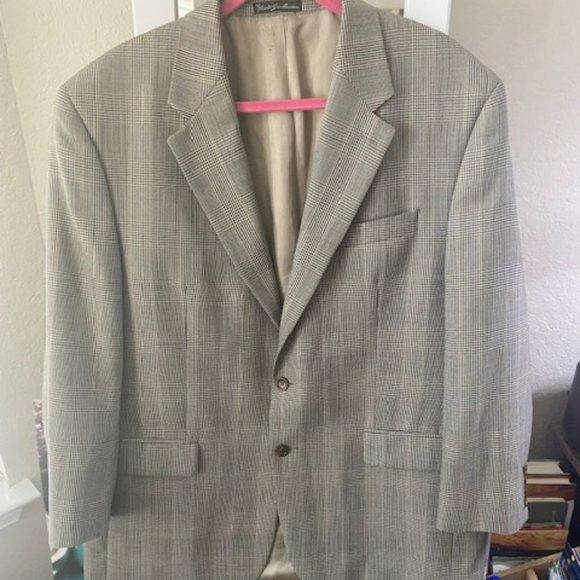 Mens Lauren Ralph Lauren Plaid Blazer Suit Sz Lg